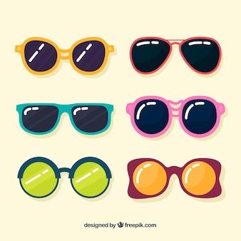 Seizoensgebonden zonnebrilcollectie in platte lenzen