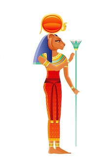 Sekhmet egyptische godin, leeuwin godheid. oude egyptische god