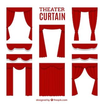 Selectie van decoratieve theatergordijnen