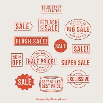 Selectie van fantastische verkoopzegels