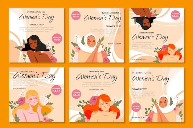 Selectie van instagram-posts op internationale vrouwendag