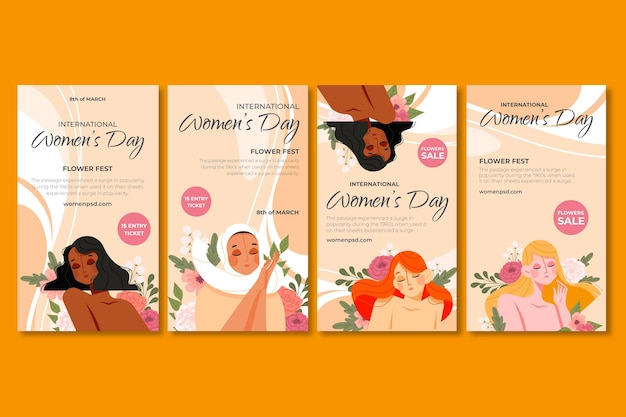 Selectie van instagramverhalen voor internationale vrouwendag
