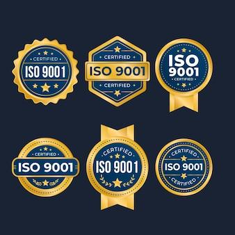 Selectie van iso-certificeringsbadges