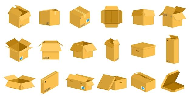 Selectie van kartonnen dozen