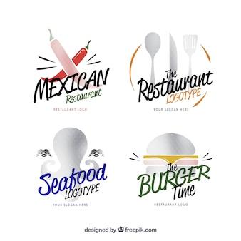 Selectie van leuke logo's voor verschillende restaurants