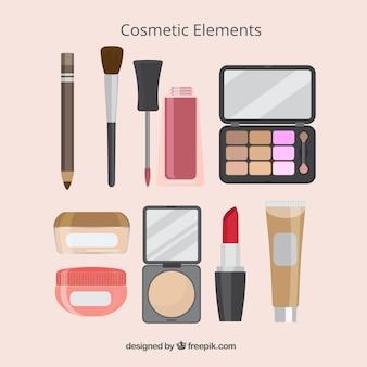 Selectie van make-up elementen