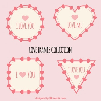 Selectie van vier liefde frames