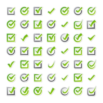 Selectievakje pictogrammen