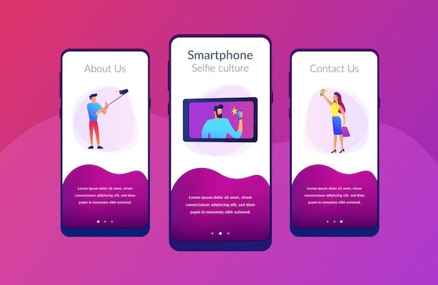 Selfie app interface sjabloon.