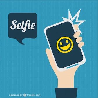 Selfie foto vector afbeelding