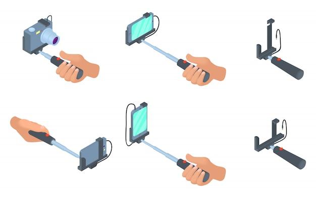 Selfie stick pictogramserie