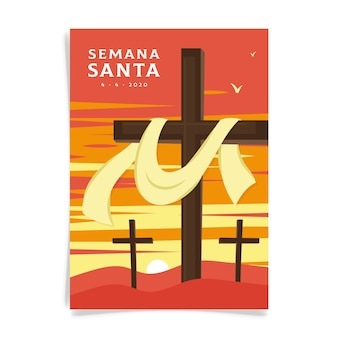 Semana santa poster geïllustreerd