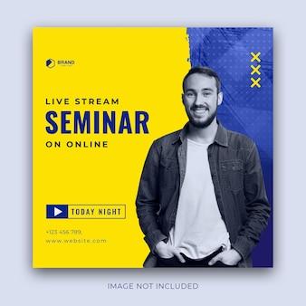 Seminar, webinar, workshop adverteren in vierkant formaat voor instagram-post