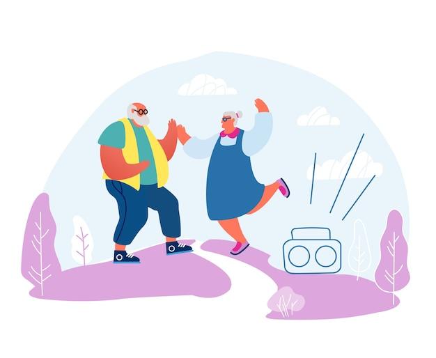 Senior echtpaar dansen sparetime.