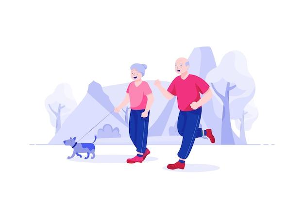 Senior levensverzekeringen illustratie concept