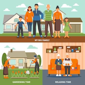 Senior mensen activiteiten samenstelling