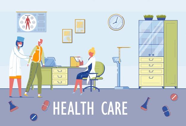 Senior mensen in de gezondheidszorg en verpleging.