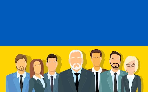 Senior zakenlieden groep van zakelijke mensen team