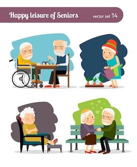 Senioren gelukkige vrije tijd
