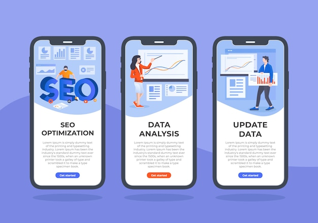 Seo-and-data-mobile-ui-design