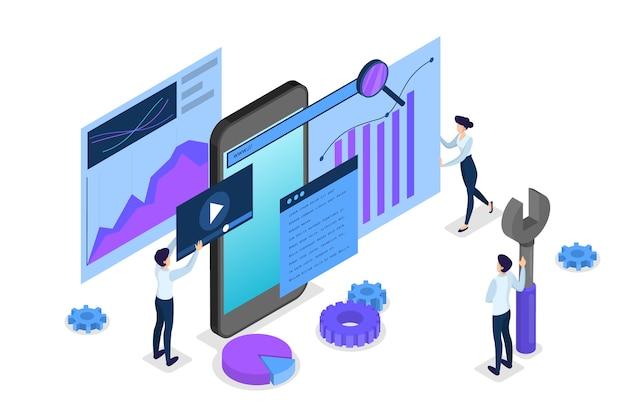 Seo-concept. idee van zoekmachineoptimalisatie voor website