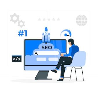 Seo concept illustratie