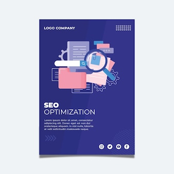 Seo flyer-sjabloon