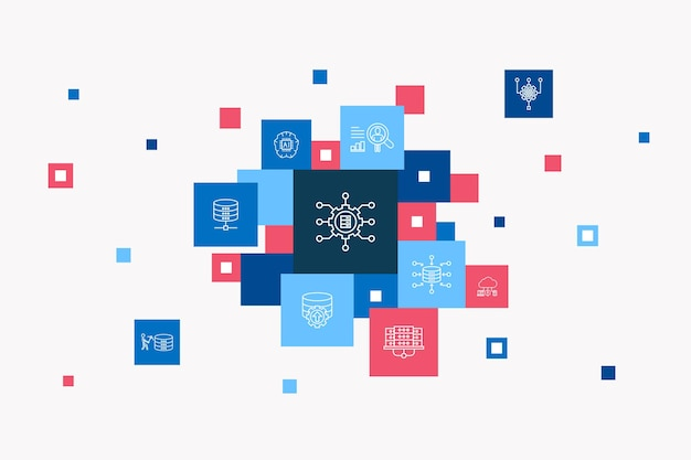 Seo infographic cirkel concept. slimme ui-elementen zoekmachine, doelzoekwoorden, webanalyse, seo-monitoring