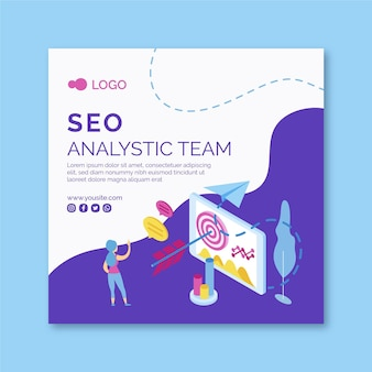 Seo kwadraat flyer-sjabloon