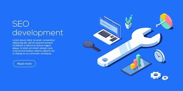 Seo-ontwikkeling isometrisch
