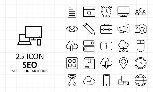 Seo-pictogrammen sheet pixel perfect