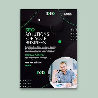 Seo solutions verticale flyersjabloon