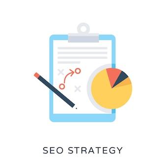 Seo-strategie platte vector icon