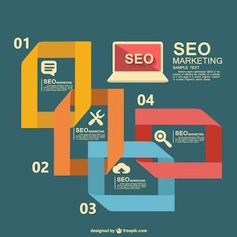 Seo vector informatie grafisch