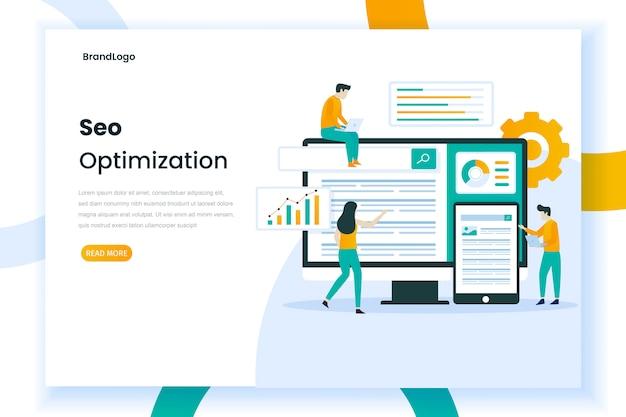 Seo web illustratie concept