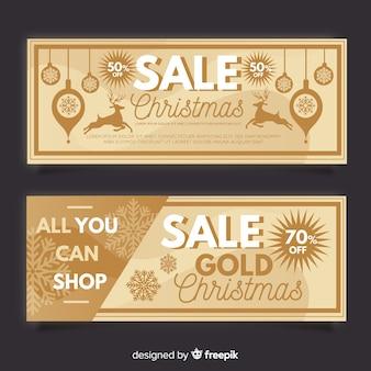 Sepia kerst verkoop banner
