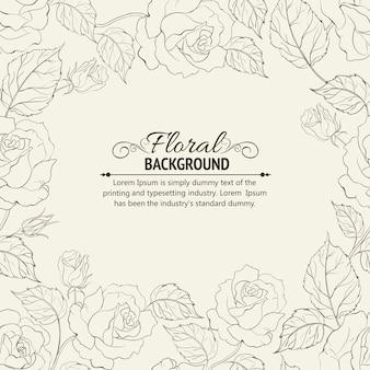 Sepia romantisch frame.