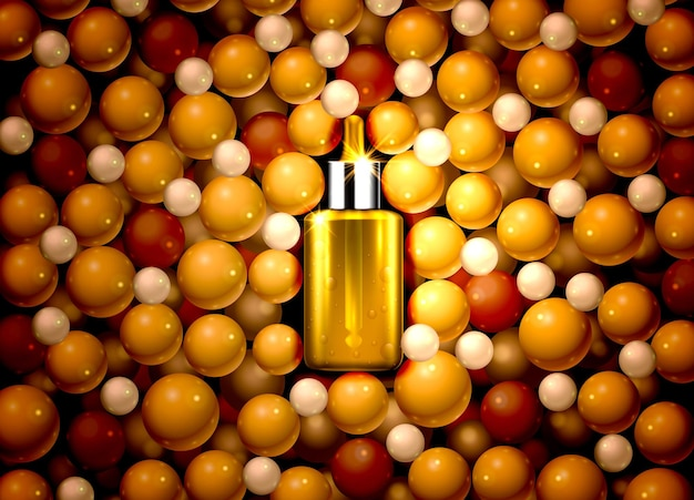 Serum olie product medisch aroma extract natuur essentie vector