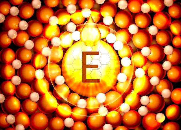 Serum vitamine e organische componenten medische olie vector