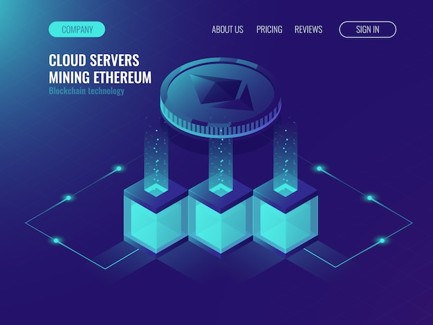Serverruimte, block chain texhnology, crypto currency mining