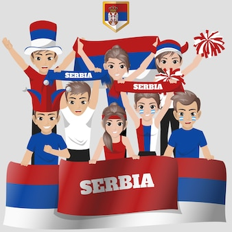 Servia nationale team supporter