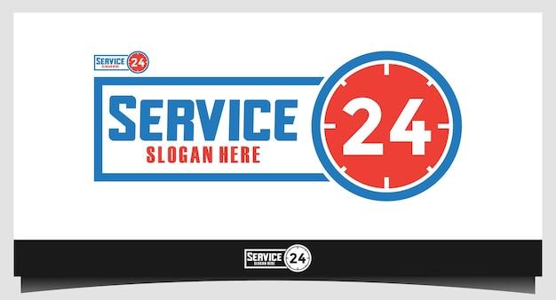Service 24 uur logo-ontwerp