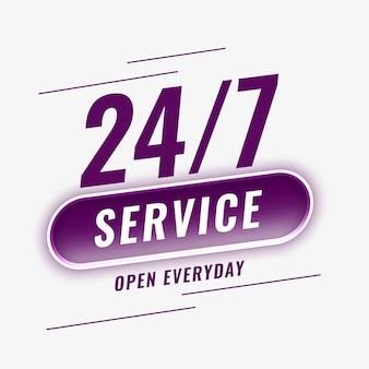 Service dagelijks geopend achtergrond