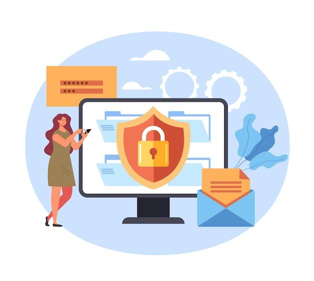 Service login wachtwoord veiligheid voer het concept van persoonlijke gegevens in.