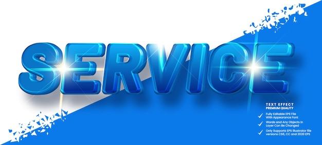 Service tekst effect