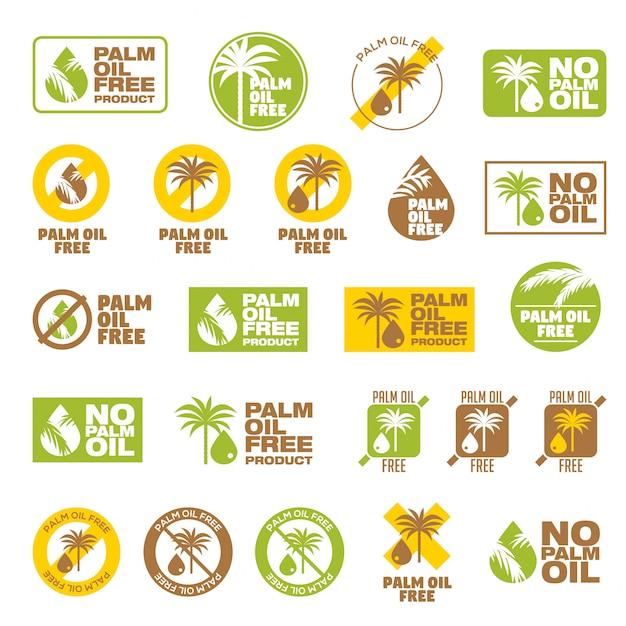 Set 23 kleuren iconen palmolie gratis