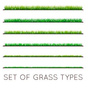 Set achtergronden van groen gras
