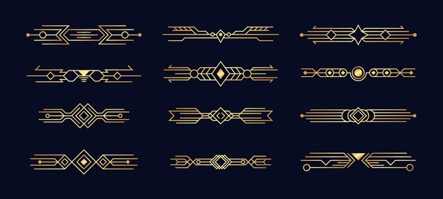 Set art deco-elementen.