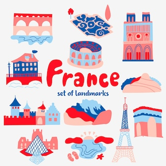 Set attracties populaire plaatsen frankrijk