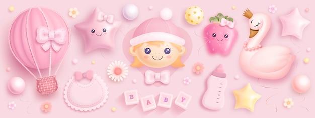 Set babydouche-elementen